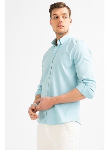Avva Erkek  Oxford Klasik Yaka Gömlek A01S2272 Yeşil